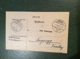 """WIEN 1926 Stempel: """"FERNSPRECHWESEN BUCHHALTUNG"""" Seltenes Dienst-Postkarte Formular  (Österreich Brief Bank - 1918-1945 1. Republik"""