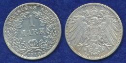 Deutsches Reich 1 Mark 1910F Großer Reichsadler Ag900 - [ 2] 1871-1918: Deutsches Kaiserreich