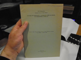 STUDIES ON BORMANS'S (= DUBRONY) SOME MATERIAL OF DERMAPTERA (INSECTA)  1985  G. K. SRIVASTAVA / Dermaptères - Biological Science