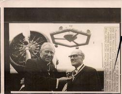 Aviation - Aviateur Pater Paul Schulte Et Professeur Willi Messerschmitt - Reproductions