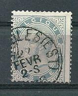 39 Gestempeld BRUXELLES-EST - Cote 12,00 - COBA 2 Euro - 1883 Leopold II
