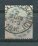 39 Gestempeld BRUXELLES-NORD - Cote 12,00 - COBA 2 Euro - 1883 Leopold II