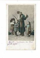 Carte SAINT NICOLAS Père Fouettard Cadeaux Enfants - Série 2124 - San Nicolás