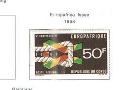 Congo Brazzaville 1968 PA Europaafrica Scott.C69+ See Scans - Congo - Brazzaville
