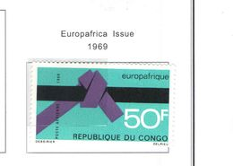 Congo Brazzaville 1969 PA Europaafrica Scott.C84+ See Scans - Congo - Brazzaville