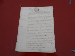 Acte Notarial  Du 16 Aout 1773 Avec Cachet Bretagne  Deux Sols  4 Pages - Manuscripts