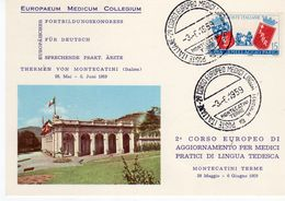 Terme Di Montecatini 1959 - 2° Corso Europeo Medici Lingua Tedesca - - Manifestazioni
