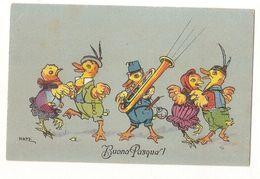HATZ - DRESSED CHICKS DANCING & PLAYING Brass Instrument - B.K.W.I. 4631 (391) - Illustrators & Photographers
