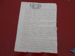 Acte Notarial  Du 24 Septembre 1714  Avec Cachet Bretagne  Deux Sols Et 4 Deniers   2 Pages - Manuscripts
