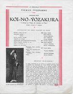 Programme Spectacle De THEÂTRE NO JAPONAIS (imp. De Vaugirard Paris 1930) - Programmes