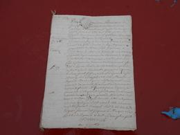 Acte Notarial  Du 19 Mars 1774  Avec Cachet Bretagne  Deux Sols  5  Pages - Manuscripts