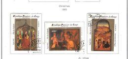 Congo Brazzaville 1985 PA Natale Dipinti  Scott.C346/348+ See Scans - Congo - Brazzaville