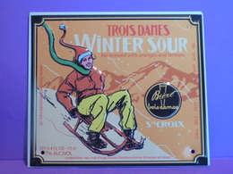 """Plaque En Métal """"BIERE WINTER SOUR"""" - Advertising (Porcelain) Signs"""