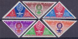 Rép.d'HAÏTI :1962: Y.478-80&PA241-43 Dentelés/neufs/MNH:## Éradication Du Paludisme ##:MALARIA,HEALTH,SANTÉ,INSECT, ... - Haïti