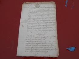 Acte Notarial  Du 6 Avril  1758  Avec Cachet Bretagne  Trois Sols  2 Pages - Manuscripts
