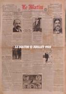 1922 LE TOUR DE FRANCE CYCLISTE - BEY SI MOHAMED EL HABIB - GP MOTOCYCLETTES - PASTEUR  DOLE - EXÉCUTION CAPITALE EVREUX - Journaux - Quotidiens