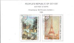 Congo Brazzaville 1985 PA Philafrance   Scott.C396+397+ See Scans - Congo - Brazzaville