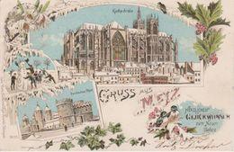 57 - METZ - GRUSS AUS LITHO 1897 - CARTE DE VOEUX POUR 1898 - Metz