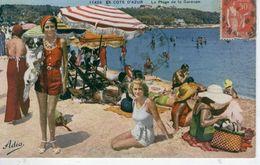 CAP D'ANTIBES La Plage De La Garoupe (et Ses élégantes 1934 ) Bon état - Cap D'Antibes - La Garoupe
