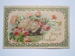 1909 Carte Postale Gauffrée 365 JOURS DE BONHEUR LAMBERT ANDRE Boucher à VIEVILLE (Haute-Marne) - Autres Communes
