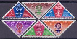 Rép.d'HAÏTI :1962: Y.490-92&PA255-57 Dentelés/avec Trace De Charnière/hinged:## Éradication Du Paludisme ##:MALARIA, ... - Haïti