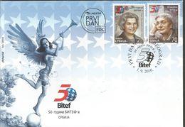 SRB 2016-686-7 50A°BITEF, SERBIA, FDC - Serbien