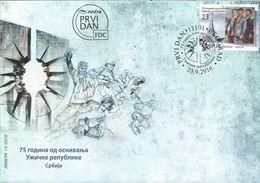 SRB 2016-689 75A°REPUBLIK UŽICE, SERBIA, FDC - Serbien