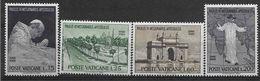 1964 VATICAN 418-21** Pape Paul VI En Inde, Carte - Ungebraucht