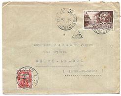 LF A19  Lettre Taxée De 1951 Timbres N°898-Tn°86 - 1921-1960: Modern Tijdperk