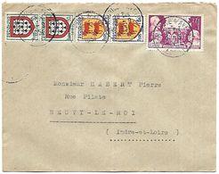 LF A20  Lettre De 1951 Timbres N°897-900x2-901x2 - 1921-1960: Période Moderne