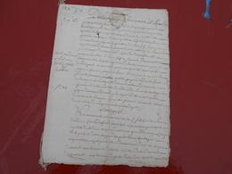 Acte Notarial  28 X 1774  Cachet Bretagne 2 Sols - Manuscripts