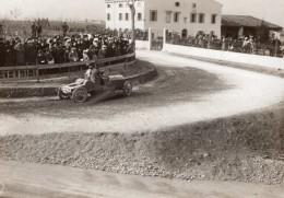 Italie Targa Bologna 1908 Pendant La Course Spectateurs Automobile Ancienne Photo - Cars