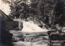 USA ? Riviere Rapides Bel Effet De Mouvement Ancienne Photo Snapshot Vers 1920 - Places