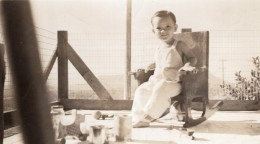 Bebe Souriant Sur Chaise A Bascule Baby On Rocking Chair Photo Snapshot 1945 - Photographs