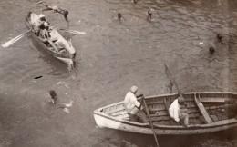 Jamaique Kingston Barques Baigneurs Pecheurs ? Ancienne Photo GJ Becker 1910's - Boats