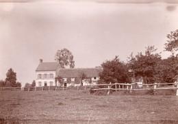 Orne Tinchebray Ferme De La Famille Farnel ? Ancienne Photo Vers 1890 - Old (before 1900)