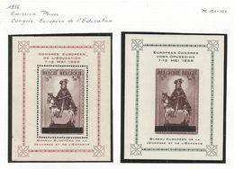 CADEAU - 1956 - COB N° PR 123 Et 124 ** (MNH) - IMPECCABLES - Belgique