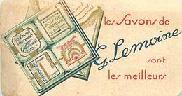 CH.18-jmt-244 : CARTE PARFUMEE LES SAVONS G. LEMOINE - Perfume Cards