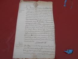 Acte Notarial  De 1757   Cachet Bretagne  Trois Sols - Manuscripts