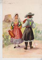 COSTUMI SARDI FOLKLORE  NURAGHE  VG - Costumi