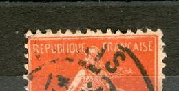 """Variété N° 135°_rouge Sang_""""c""""+""""o""""+""""s"""" Coupés_main Coupée_Paris Départ 1907_4 Scans - 1906-38 Semeuse Camée"""
