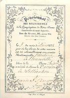 CH.18-jmt-256 : PENSIONNAT RELIGIEUSE CONGREGATION. RUE DE SEVRES PARIS.  ACCESSIT DE LITTERATURE. 1878 - Diplômes & Bulletins Scolaires