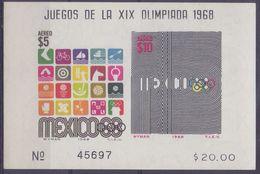 MEXICO :1968: Y.BF19 Not Dentelled/neuf/MNH : ## XIX Olympics – MEXICO 1968 ## - Ete 1968: Mexico