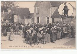 CPA- Saint-Cosme-de-Vair - Etude De Coiffes -Très Annimée Femmes Enfants Hommes-dép72- TBE - Other Municipalities