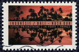 France 2017 Oblitéré Used Reflets Paysages Du Monde Indonésie Bali Nusa Dua Y&T 1360 - France