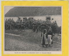 Halte De Troupes Allemandes Dans Un Village Belge  1914 - 1914-18