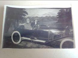 75  PARIS  BOIS  DE  BOULOGNE   CARTE  PHOTO   VOITURE   SURREALISTE  NOVEMBRE  1927 - Voitures De Tourisme