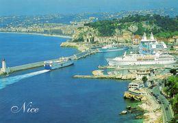 CPM - F - ALPES MARITIMES - NICE - LE PORT - CAR FERRY - PAQUEBOT - Transport Maritime - Port