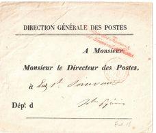 4364 PARIS Dest Luz St Sauveur Hautes Pyrénées Lettre Franchise Direction Genérale Des Postes 2024 CONTRE SEINGS 2081 - Marcophilie (Lettres)