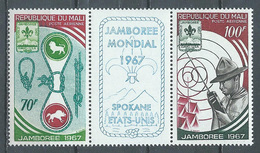 Mali Poste Aérienne YT N°50A Jamborée Mondial D'Idaho Scoutisme (triptyque Se-tenant) Neuf ** - Malí (1959-...)